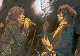 ronnie wood s rolling stones artwork goes on sale at castle