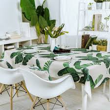 dining room table cloth fresh plant green leaves table cloth thick linen customize dining