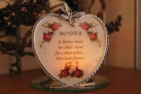 amazon com mom gifts glass heart candle holder a mother holds