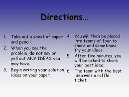 Challenge Directions The Scientific Method Challenge Directions 1 Take Out A Sheet Of