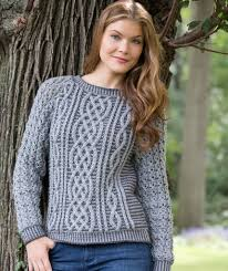 cable sweater two tone cable sweater