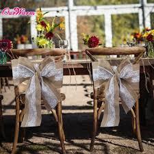 burlap chair covers 100pcs 275 x 15cm lace burlap chair sashes cover hessian jute