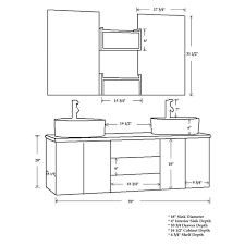 Bathroom Cabinet Depth by Cambridge Plumbing Moonstone 59