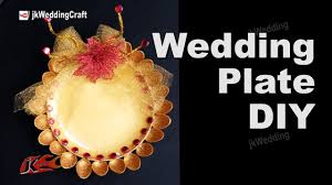 How To Make Wedding Decorations How To Make Wedding Plate Diy Wedding Tray Decoration Ideas