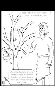 saint john baptist coloring john baptist sunday