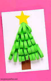 Arts And Crafts Christmas Tree - paper strips christmas tree easy peasy and fun