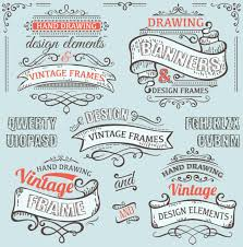 vintage ribbon vintage ribbon labels with ornaments vector 02 vector label free