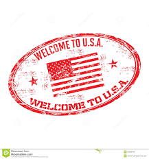 Welcome Flag Welcome To Usa Rubber Stamp Stock Vector Image 53269106