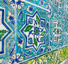 Ottoman Tiles Ancient Made Turkish Ottoman Tiles Istanbul Turkey Stock
