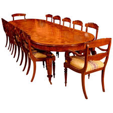 12 Seat Dining Room Table Burr Walnut Marquetry Dining Table And 12 Chairs At 1stdibs