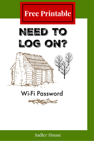 Lake House Ideas Wi Fi Password Sign For Cabins Free Printable Wi Fi Cabin And