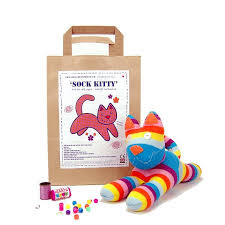 sock craft kit by sock creatures notonthehighstreet