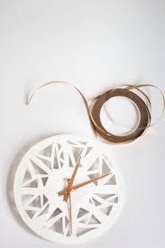 copper projects always rooney copper u0026 geometric shape clock diy