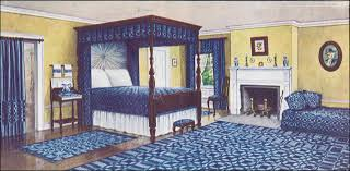 Home Journal Interior Design 1910 Blue White And Yellow Colonial Bedroom Ladies Home