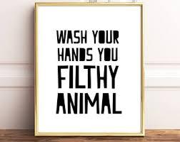 Etsy Bathroom Art Funny Bathroom Wall Decor Fanciful 9 Definition Karma Funny