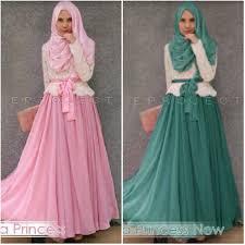 Baju Muslim Brokat baju muslim brokat diana princess p254 gamis pesta remaja