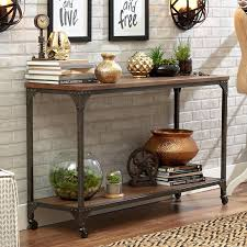 Contemporary Entryway Table Entryway Console Table Furniture Rustic Design With Blue Color