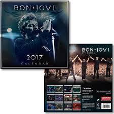 official 2017 bon jovi calendar all products for live show upsells