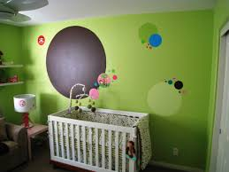 cute baby room with bright lime green accents wall painted feat