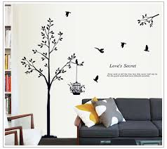 popular wall sticker familie tree buy cheap wall sticker familie black birds tree wall stickers for kids room bedroom living room decor wall decoration sticker family