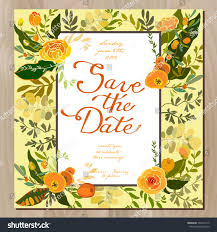 Invitation Card Border Wedding Invitation Card Floral Border Frame Stock Vector 393451915