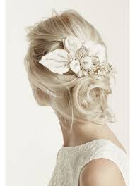 floral headpiece floral headpiece with pearls and crystals david s bridal