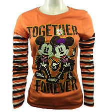 disney halloween together forever mickey minnie mouse t shirt