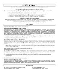Cosmetic Resume Examples by Example Apparel Product Developer Resume Free Sample