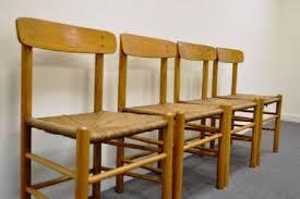 Shaker Dining Chair 4 Vintage Mid Century Modern Borge Mogensen Oak J39 Shaker