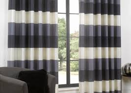 Navy Blue And White Striped Curtains by Curtains Stunning Navy And Tan Curtains Wellsuited Stunning Gray