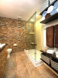 River Rock Bathroom Ideas Modern Stone Bathroom Black Stone Pebble Floor Ornament Stone Wall