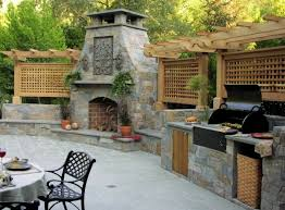 summer kitchen ideas outdoor summer kitchen with fireplace hupehome