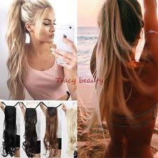 ponytail hair extensions wavy ponytail clip in hair extensions ebay