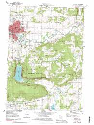 Wisconsin Lake Maps Baraboo Topographic Map Wi Usgs Topo Quad 43089d6