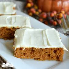 pumpkin bars with cream cheese frosting little dairy on the prairie