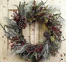 door wreaths frosted morning winter door wreath home kitchen