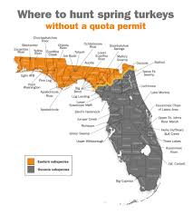 Florida Rivers Map by Where To Hunt Spring Turkeys In Florida Without A Quota Permit