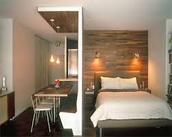 small space designs brilliant wood wall used to divide the space