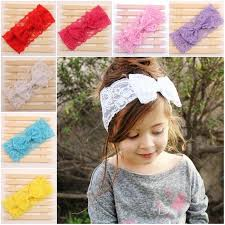 lace headbands candy color baby kids bowknot lace headband hair
