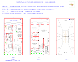 30x50 House Design by Facing Plot House Plans For 30x50 1500sqft With North Facing