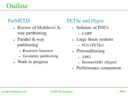 high performance computing seminar ii parallel mesh partitioning