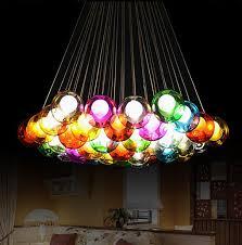 Diy Led Chandelier Fashion Led Bulb Glass Pendant Chandelier Colorful Diy
