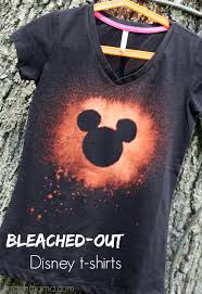 bleached out disney t shirts for the not so crafty crafter teach