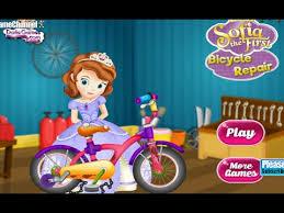 sofia bicycle repair princess games free flash