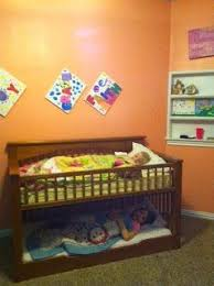 How To Convert Crib Into Toddler Bed We Converted A Crib Into A Low Toddler Bunk Bed We Used A