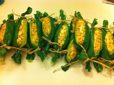 thanksgiving corn on the cob corn pops snack baggies green tissue