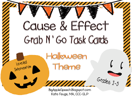 big apple speech halloween cause and effect task cards 33 off