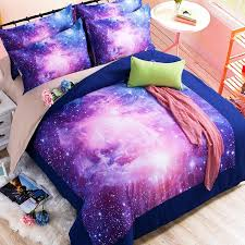 Stars Duvet Cover Sky Stars Hipster Galaxy 3d Bedding Sets Universe Outer Space