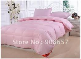 light pink down comforter new queen size bed white thickening folding luxury duck down