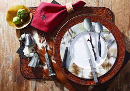 table setting western style western ware westerns ware f c and ranch style
